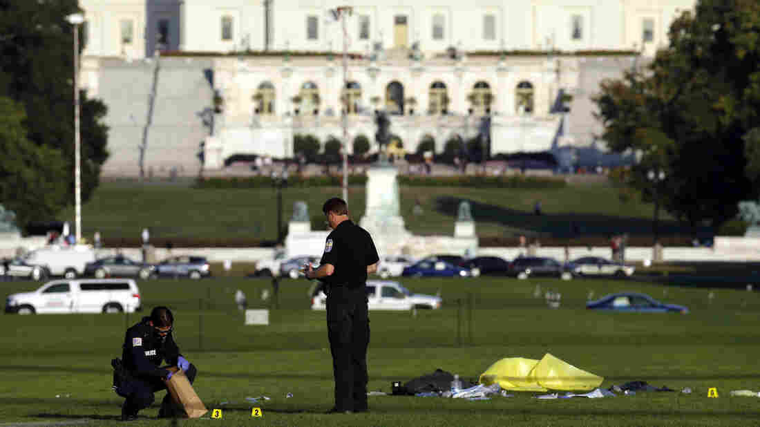 """The man who set himself on fire Friday at the National Mall was John Constantino, 64, of Mount Laurel, N.J., police say. Constantino's family links the act to """"a long battle with mental illness."""""""