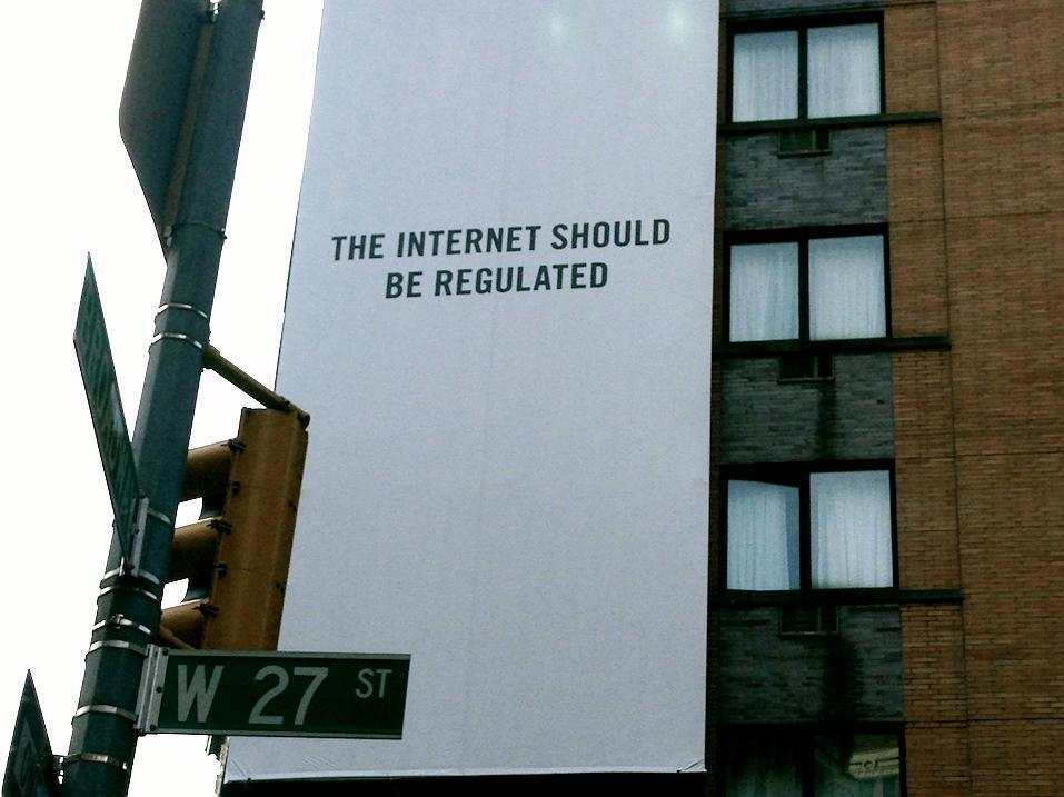 Another statement adorned a building in New York's Midtown.