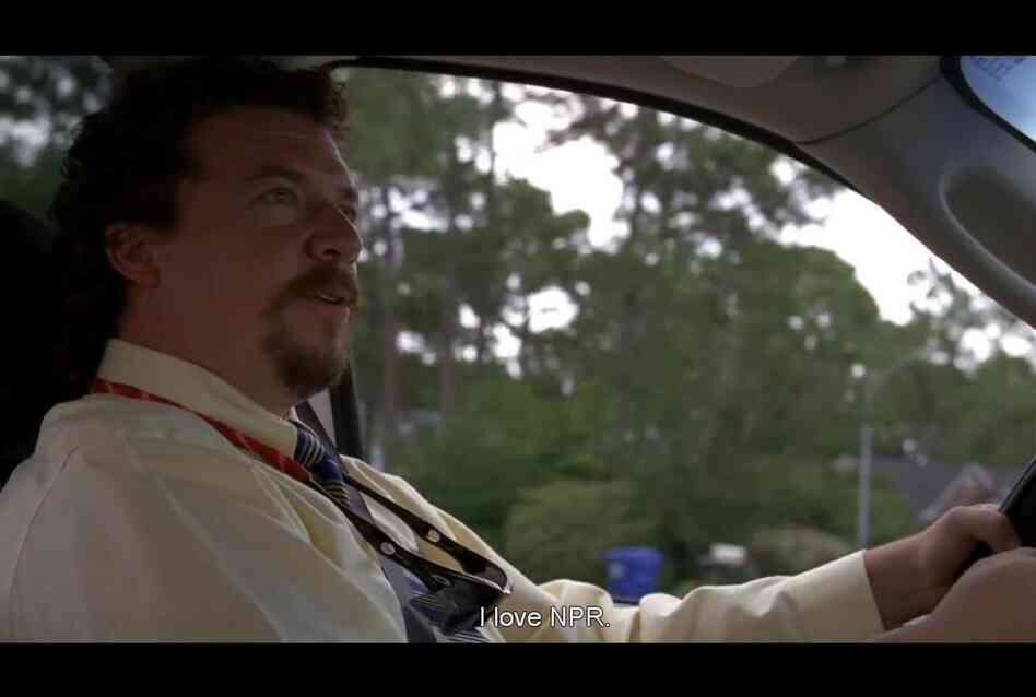 Actor Danny McBride (a.k.a. Kenny Powers) from the fourth season opening scene of HBO's Eastbound & Down.