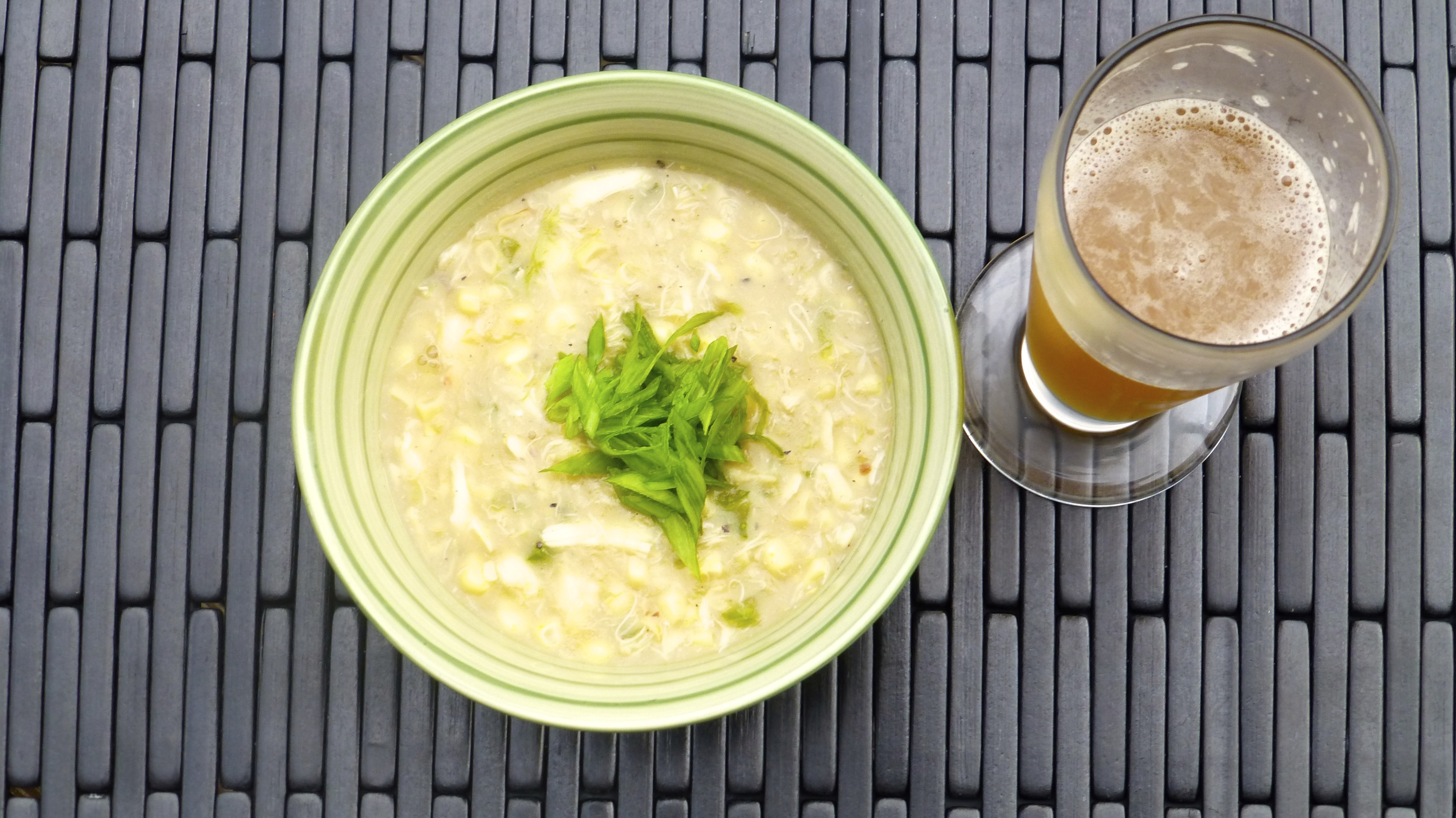 Corn and Crab Chowder with Wheat Beer