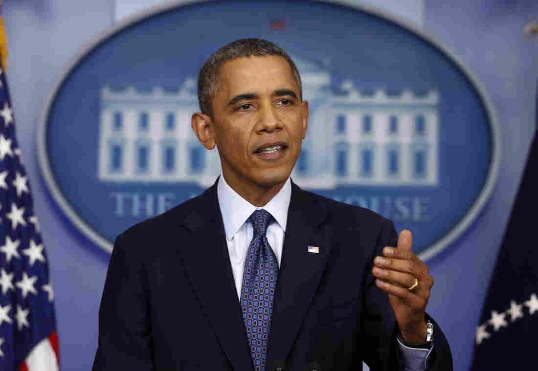 President Obama speaks about the government shutdown and debt limit on Tuesday at the White House in Washington.