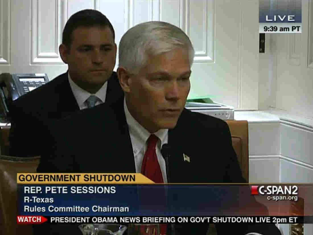 Rep. Pete Sessions (R-Texas) at the hearing where he discussed his bill to create a bipartisan committee to tackle fiscal issues.