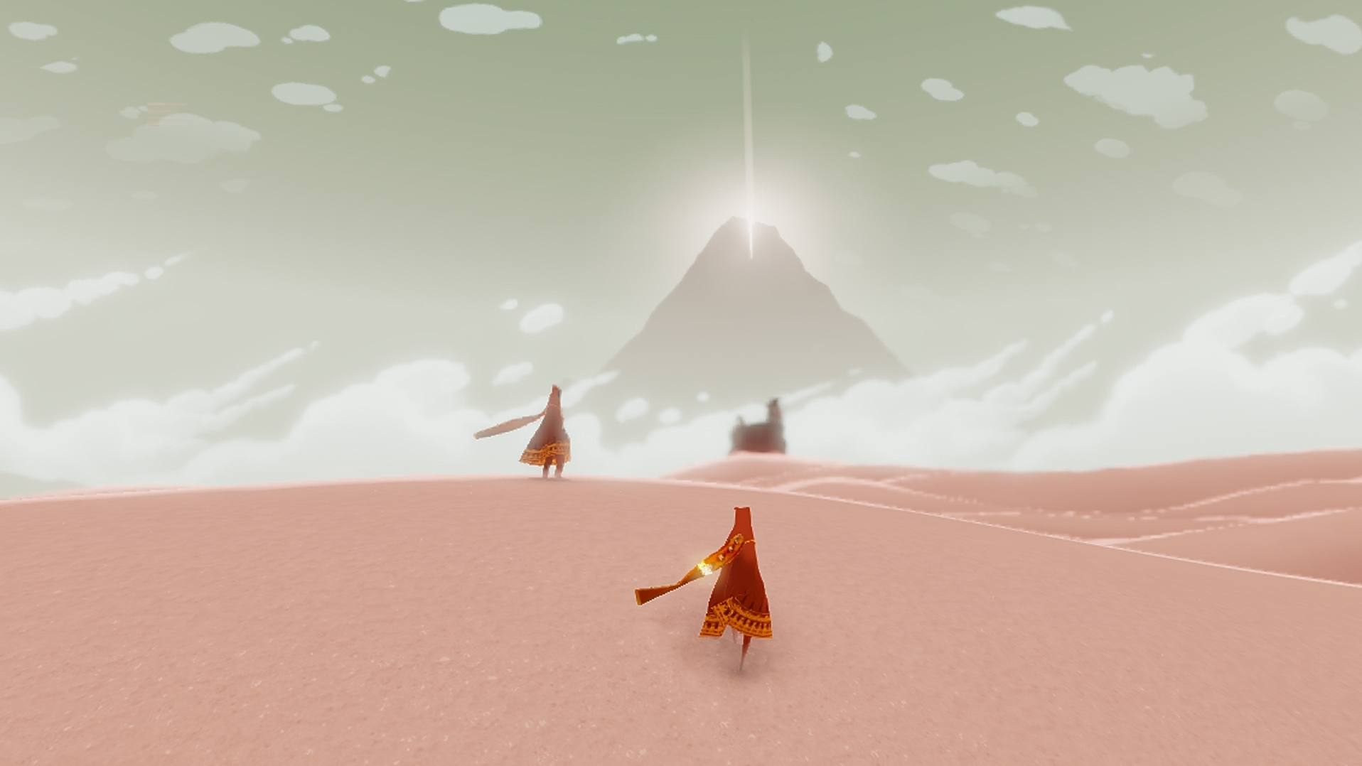 A Journey screenshot. (This is not me and Anna. But it was just like this!)