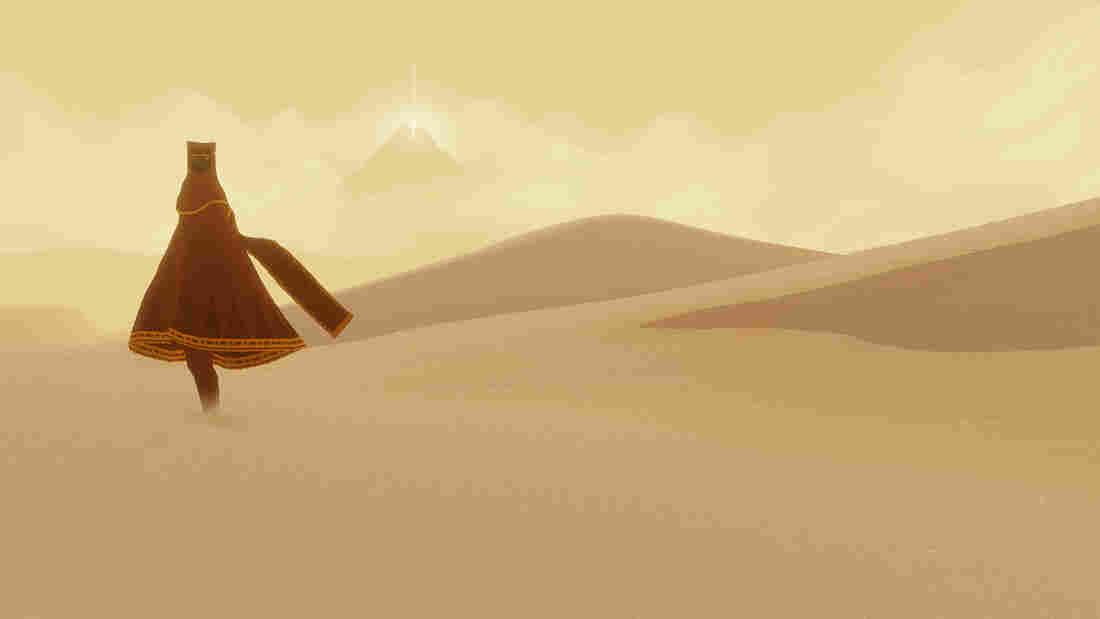 A screenshot from Journey.