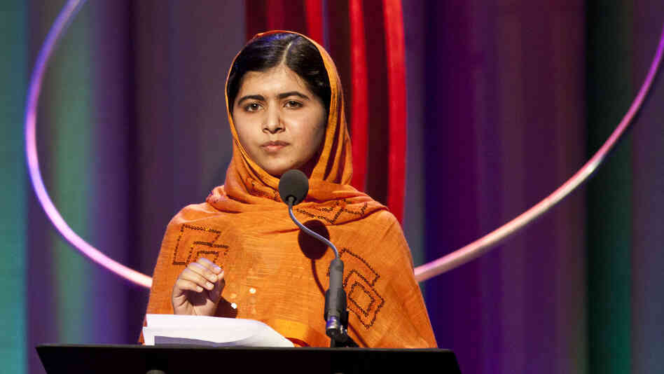 Malala Yousafzai, 16, speaks in New York last month. Yousafzai was shot a year ago by the Taliban for her outspoken advocacy in favor of girls' education in Pakistan. She is considered one of the favorites for the Nobel Peace Prize, which will be announced Friday.