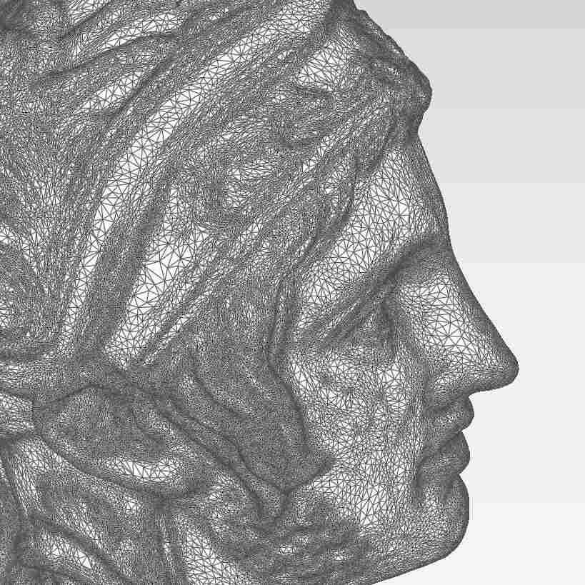 Cosmo Wenman generated this 3-D model of the Ares Borghese, based on hundreds of photos, from the Basel Sculpture Hall. Wenman publishes the scans online, so that anyone can use them to 3-D print a replica of the masterpiece.