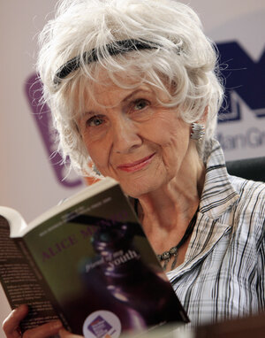 Canadian author Alice Munro has won the Nobel Prize in literature. The 82-year-old author recently announced that she plans to stop writing.
