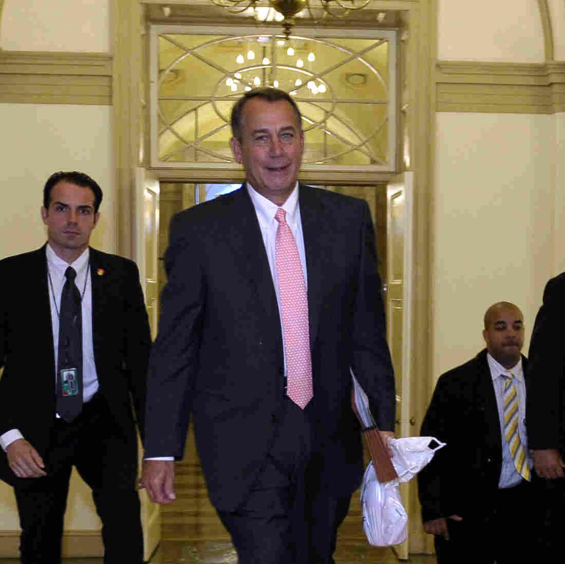 House Speaker John Boehner of Ohio arrives on Capitol Hill on Thursday.