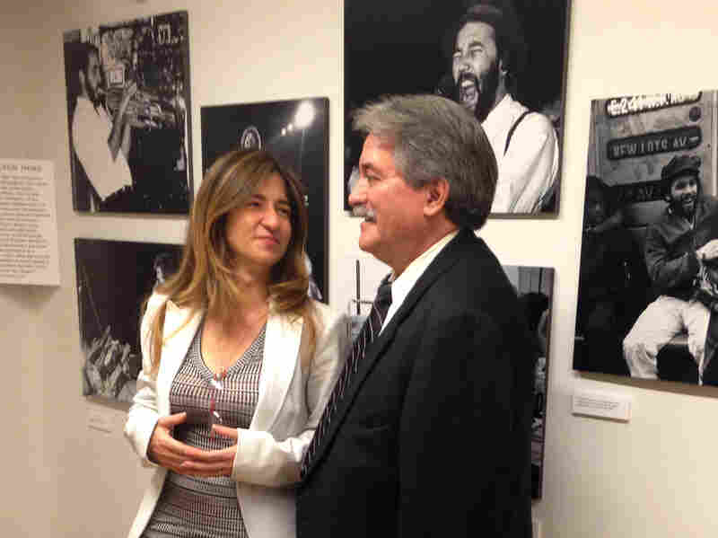 Frances Negrón-Muntaner curated the exhibit of Bolivar Arellano's work, on display at Columbia's Center for the Study of Ethnicity and Race.