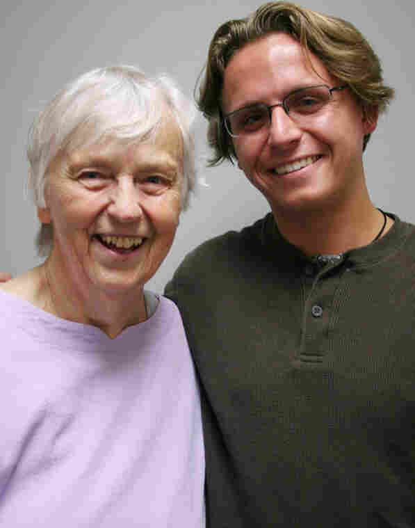 Barbara Handelsman, 80, and her grandson Aaron Handelsman, 20 — birds of a feather.