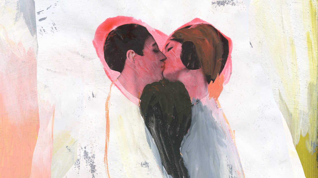Kissing illustration by Katherine Streeter for NPR