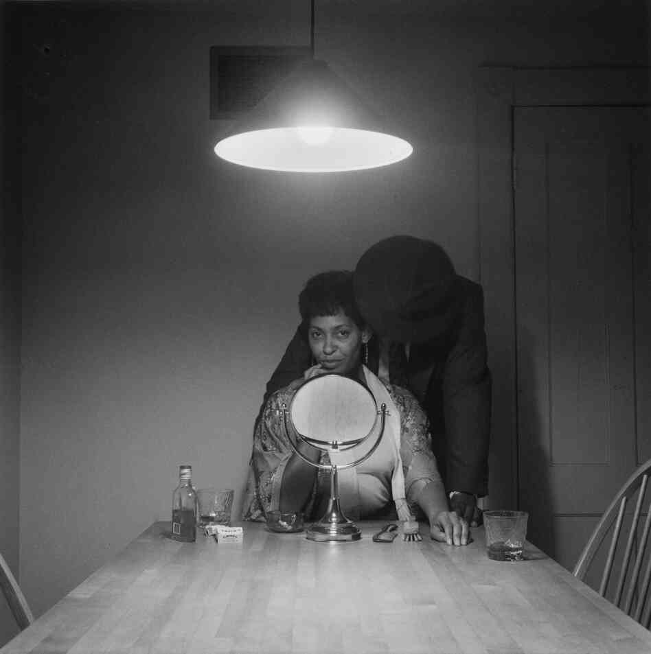 Untitled (Man in Mirror) from The Kitchen Table Series, 1990