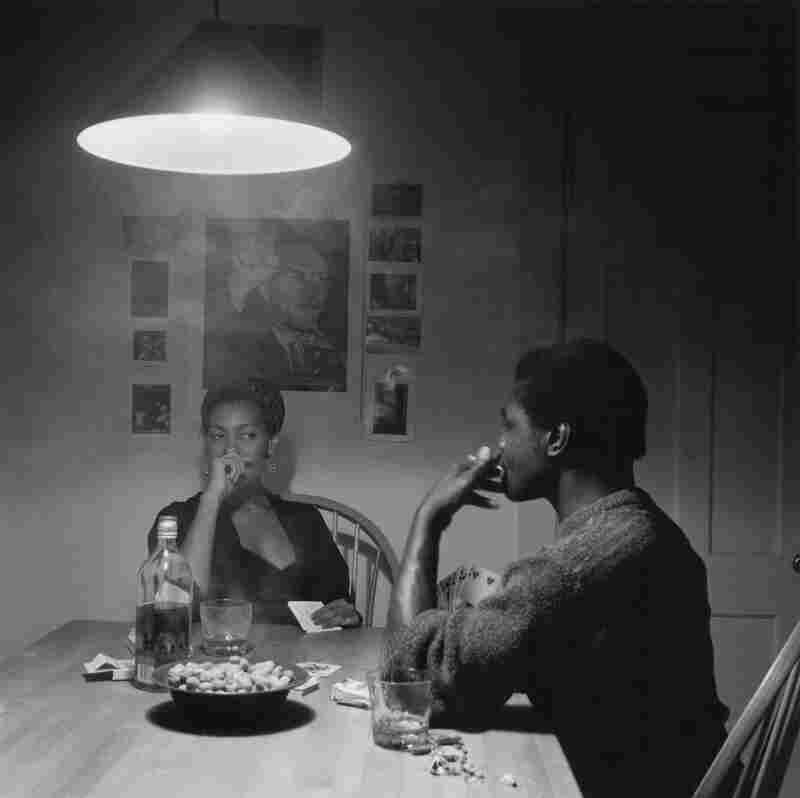 Untitled (Man Smoking/Malcolm X) from The Kitchen Table Series, 1990