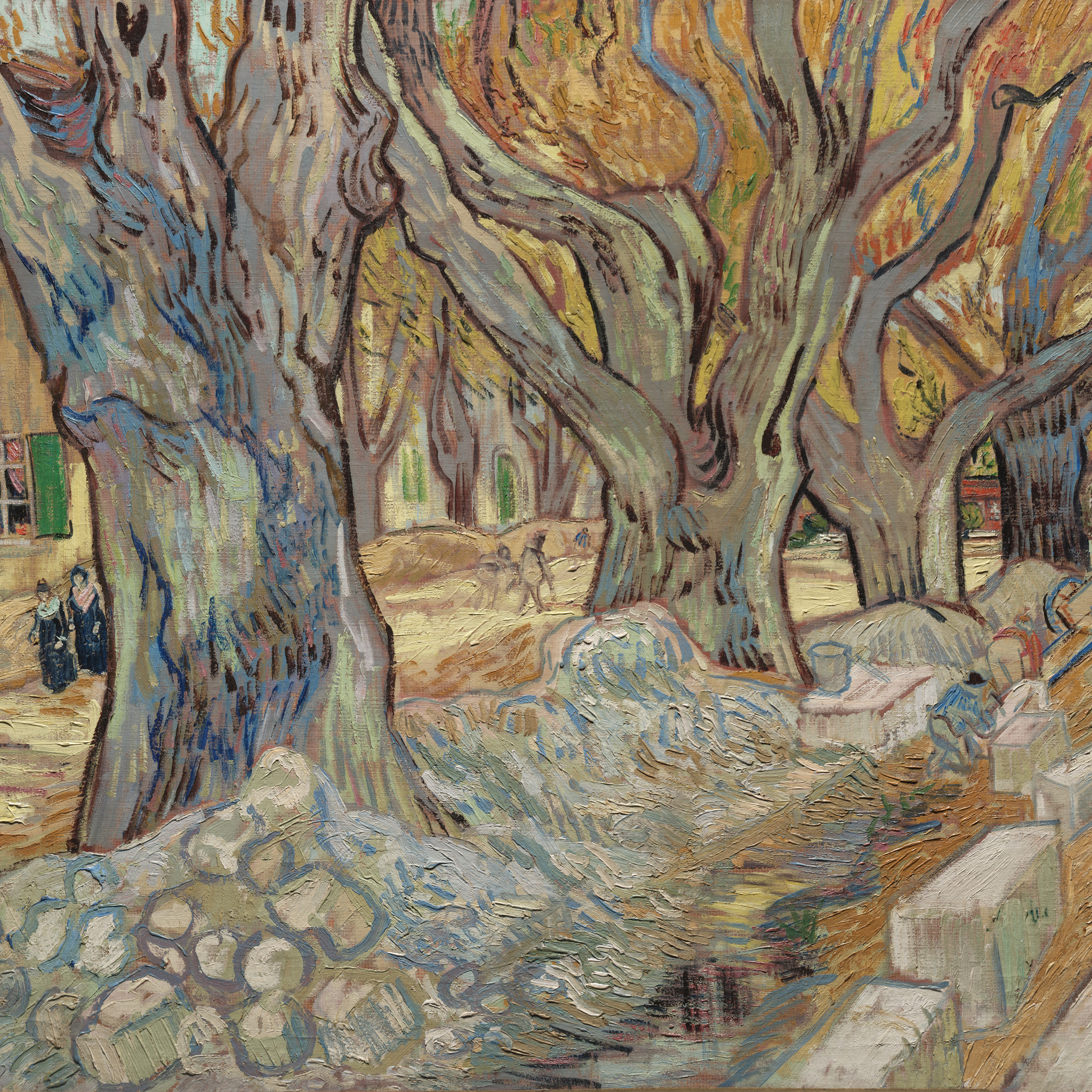 Vincent van Gogh, The Large Plane Trees (Road Menders at Saint-Re?my), 1889