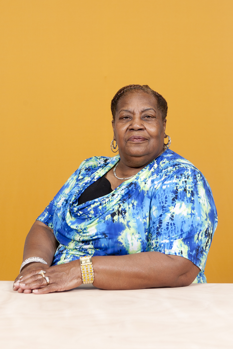 "Jennie Bullock started driving a bus when there were few women on the job. She says, ""Some people didn't want to ride with the women. When you pull in, they would say, 'Go ahead, I'll wait for the next bus.' ... But I think word got around that Ms. Bullock was a strong woman and she didn't play."" (Michael Lease)"