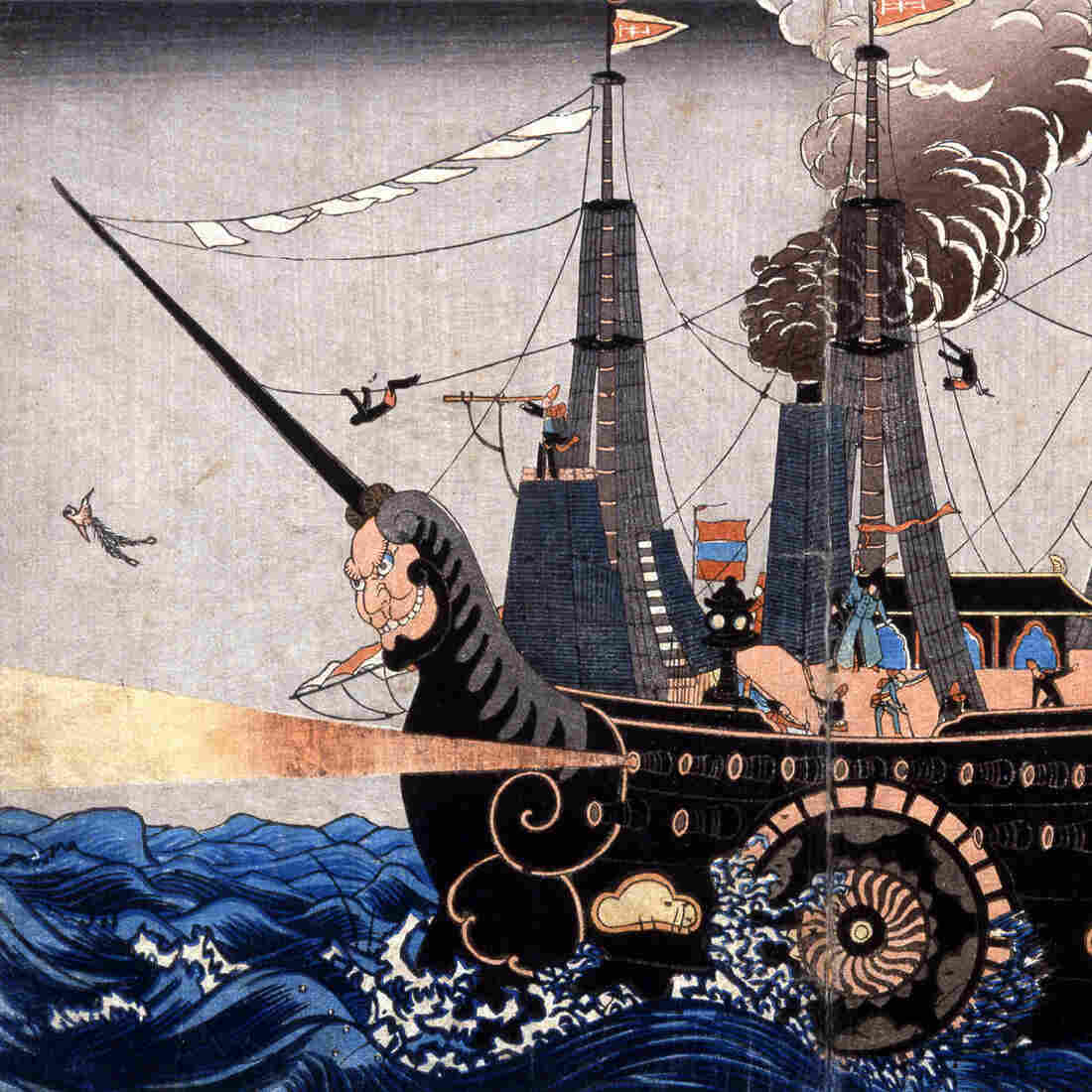 "The arrival of Commodore Matthew C. Perry's ""black ships"" in Tokyo Bay in 1853 helped persuade the Japanese to negotiate a treaty. Perry had more firepower than all the coastal artillery defending Tokyo Bay."