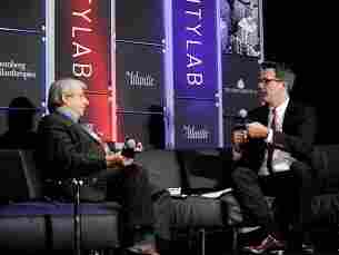 """Political theorist and author Benjamin R. Barber (left) spoke at the CityLab summit this week in New York. He is proposing the formation of a """"World Parliament of Mayors."""""""