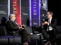 Political theorist and author Benjamin R. Barber (left) spoke at the CityLab summit this week in New York. He is proposing the formation of a