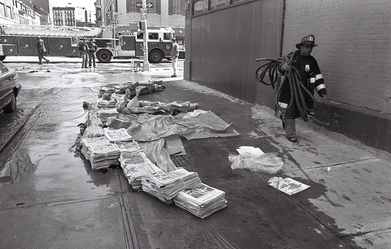 A flood at El Diario-La Prensa offices in April 1992 destroyed much of the Spanish-language daily's photographic archive.