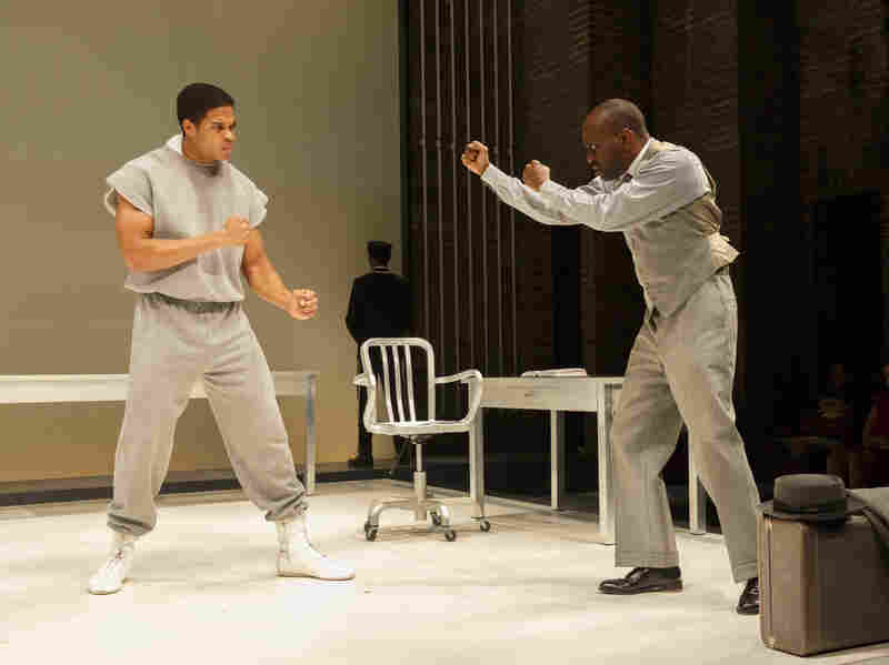 Ray Fisher and K. Todd Freeman play boxer Muhammad Ali and film actor Stepin Fetchit in Fetch Clay, Make Man.