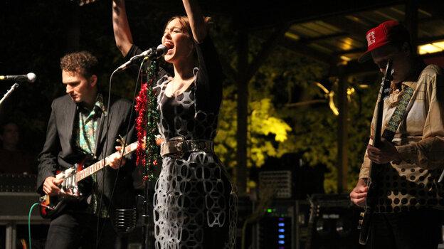 Luella & The Sun performing at the Philadelphia Folk Festival.