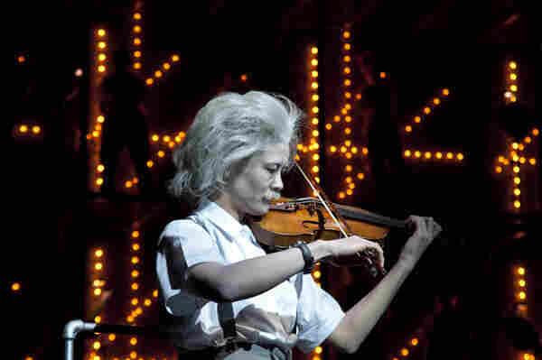Violinist Jennifer Koh as Einstein.