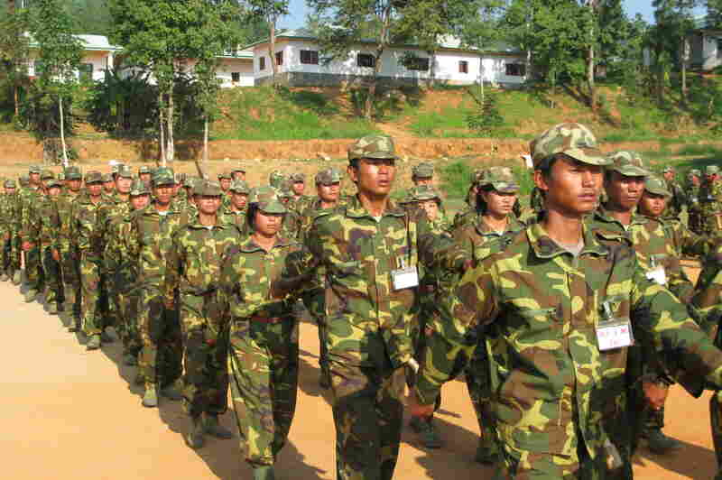 Kachin Independence Army recruits train at a military base in Maijiayang, Kachin State, Myanmar. The KIA has around 8,000 soldiers and has been fighting the Burmese government for independence for about half a century.