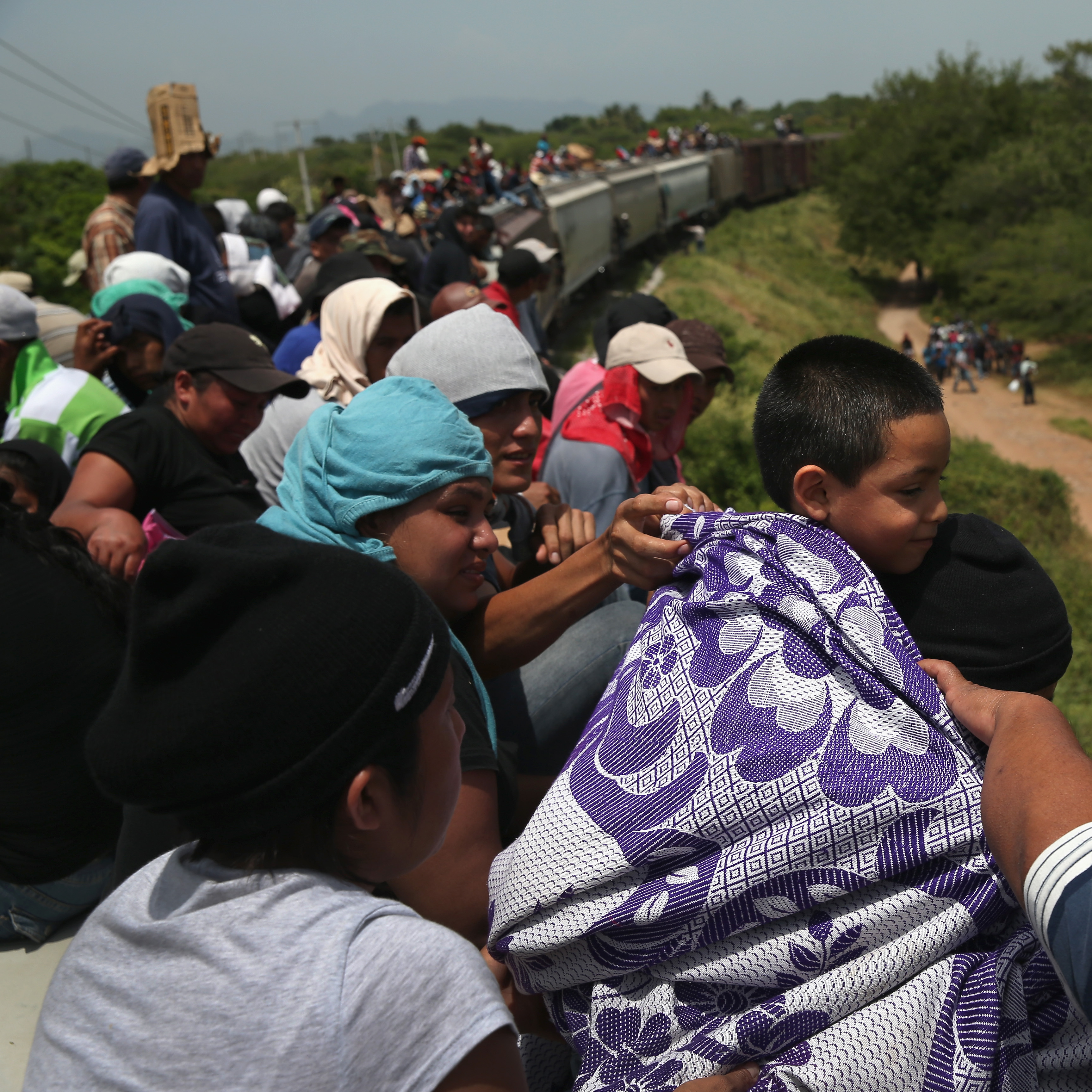 IXTEPEC, MEXICO -- Thousands of Central American migrants ride trains known as La Bestia (the beast) during their long and perilous journeys north through Mexico to the U.S. border.