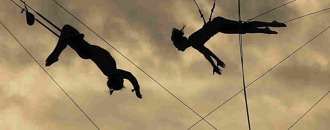 Flying high at Trapeze School New York.