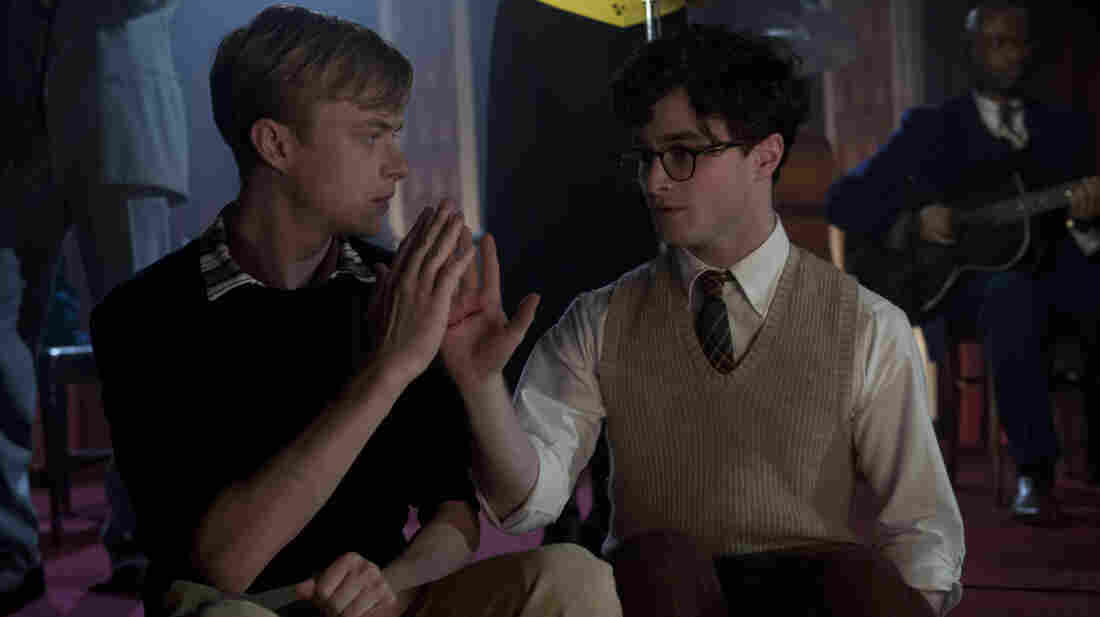 "In Kill Your Darlings, Dane DeHaan (left) plays Lucien Carr, a man whose charm and wit quickly command the attention of the young Allen Ginsberg (Daniel Radcliffe) in their time at Columbia University. John Krokidas' film chronicles the ""Libertine Circle"" they inhabited — Ginsberg's nickname — and the events that would shatter it."