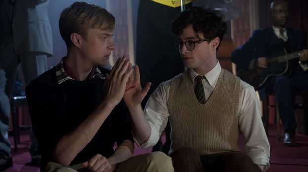 "In Kill Your Darlings, Dane DeHaan (left) plays Lucien Carr, a man whose charm and wit quickly command the attention of the young Allen Ginsberg (Daniel Radcliffe) in their time at Columbia University. John Krokidas' film chronicles the ""Libertine Circle"" they inhabited — Ginsberg's nickname — and the events that would shatter it. (Sony Pictures Classics)"