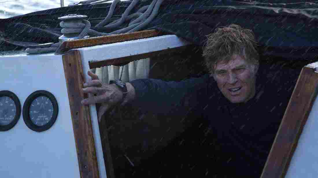 Robert Redford plays the sole character in All Is Lost; a man who is stranded at sea, on a badly damaged boat — and completely on his own.