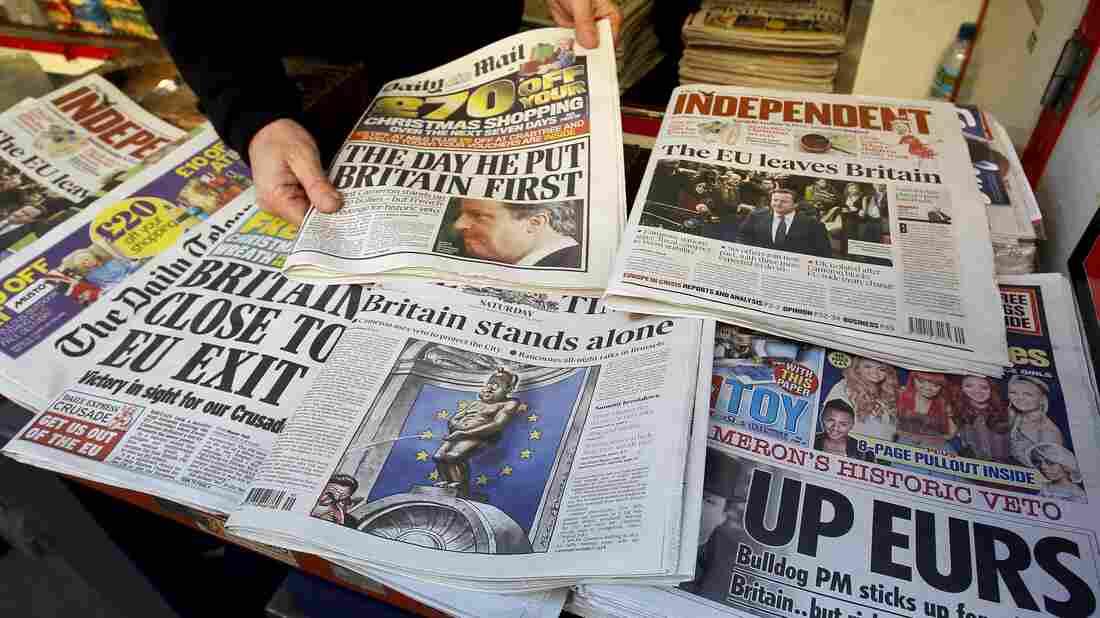 A London newspaper stand.