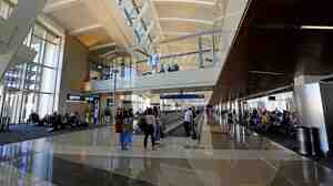 A photograph taken last month of the south concourse of LA International Airport's Tom Bradley International Terminal.