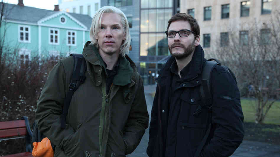 Benedict Cumberbatch (left), sporting the white-blond mop of the real Julian Assange, and Daniel Bruhl, who plays Daniel Domscheit-Berg, take on the story of WikiLeaks in The Fifth Estate.