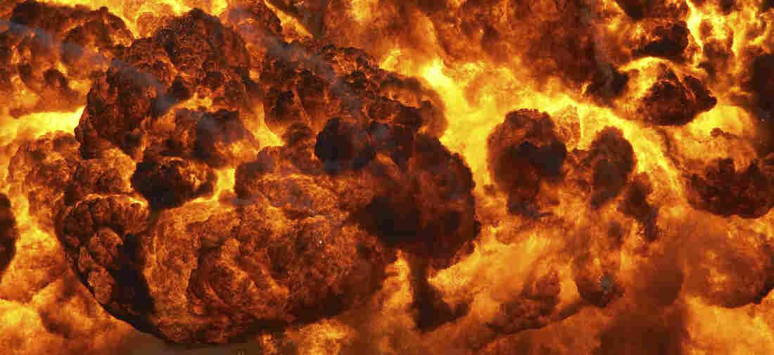 A fiery explosion