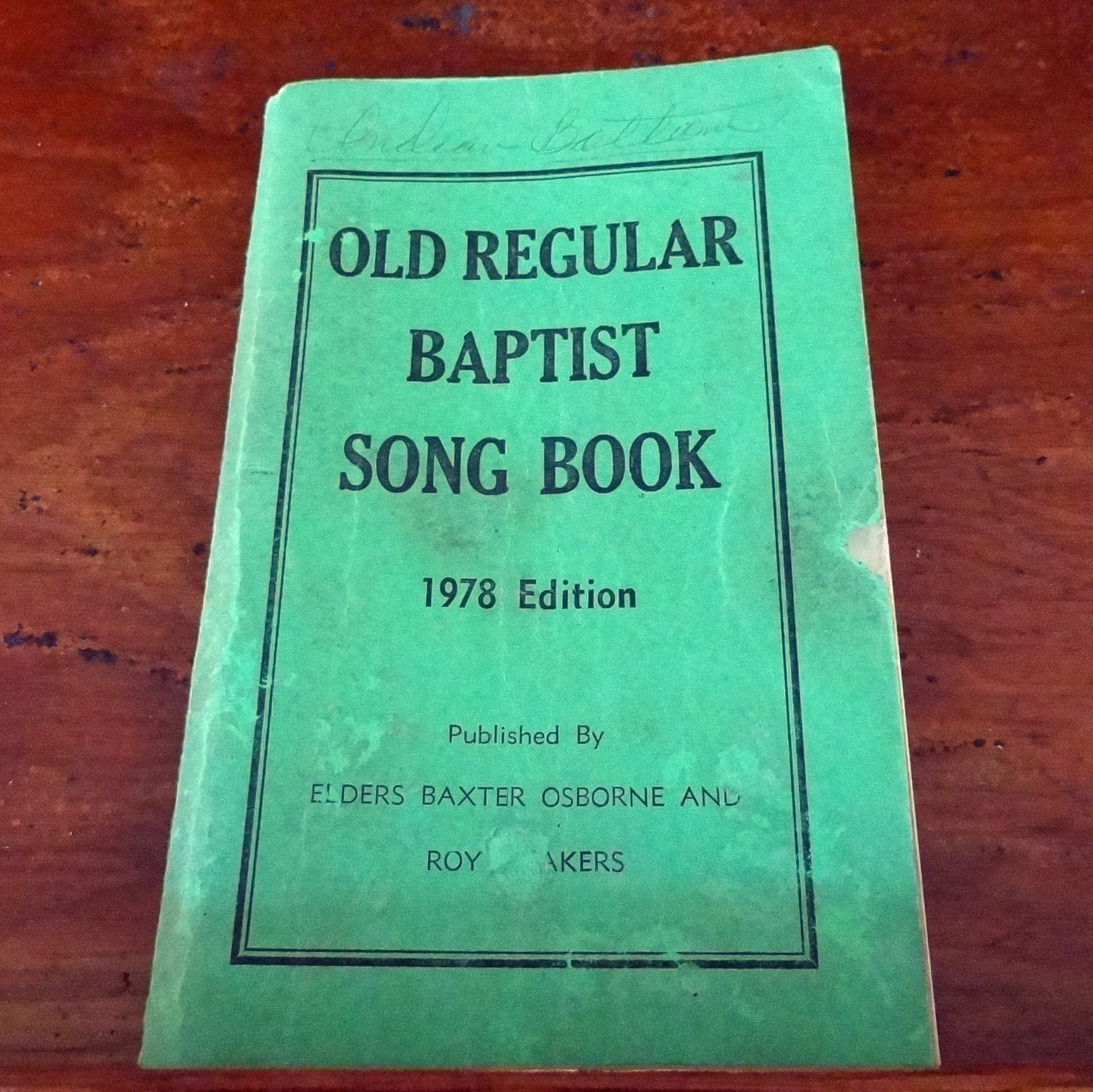Unlike sacred harp or shape-note singing, the call-and-response hymns of the Old Regular Baptist songbook have no musical notation.