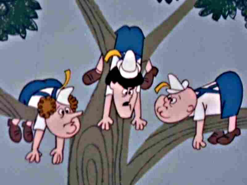 Cartoon Stooges, as seen in the mid-'60s.