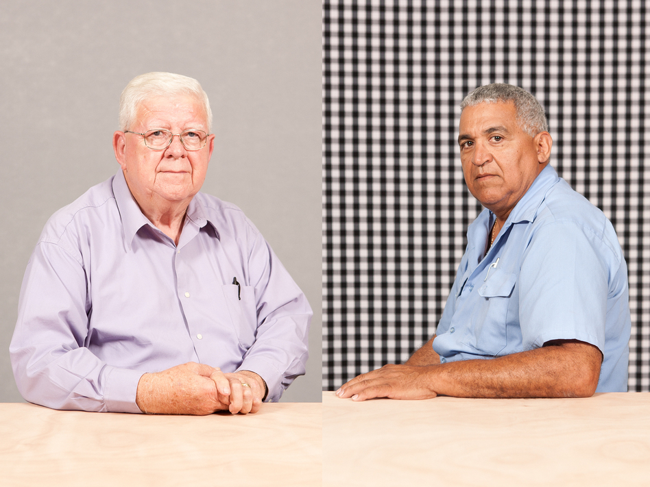 A selection of portraits from Michael Lease's project, <em>Driving Richmond</em>, which features employees of the Greater Richmond Transit Company.