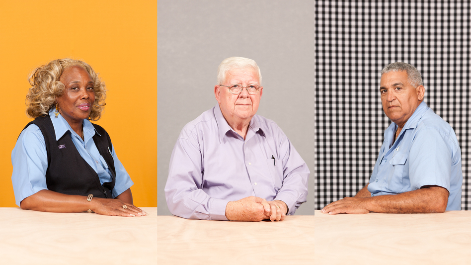 A selection of portraits from Michael Lease's project, Driving Richmond, which features employees of the Greater Richmond Transit Company. (Michael Lease)