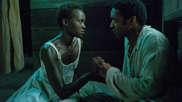 Lupita Nyong'o and Chiwetel Ejiofor play Patsey and Solomon, two slaves on a Louisiana plantation, in 12 Years a Slave. (Fox Searchlight Pictures)