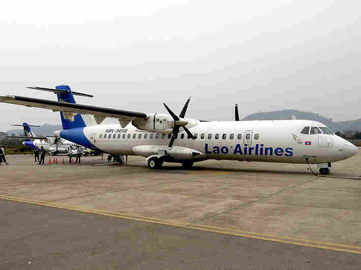 A Lao Airlines ATR similar to the one that crashed on Wednesday.