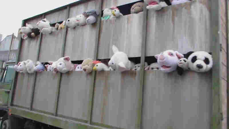 """Banksy's """"Sirens of the Lambs"""" started its tour of New York City in — naturally — the Meatpacking District."""