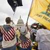 Tea Party activists attend a June rally on the grounds of the Capitol.