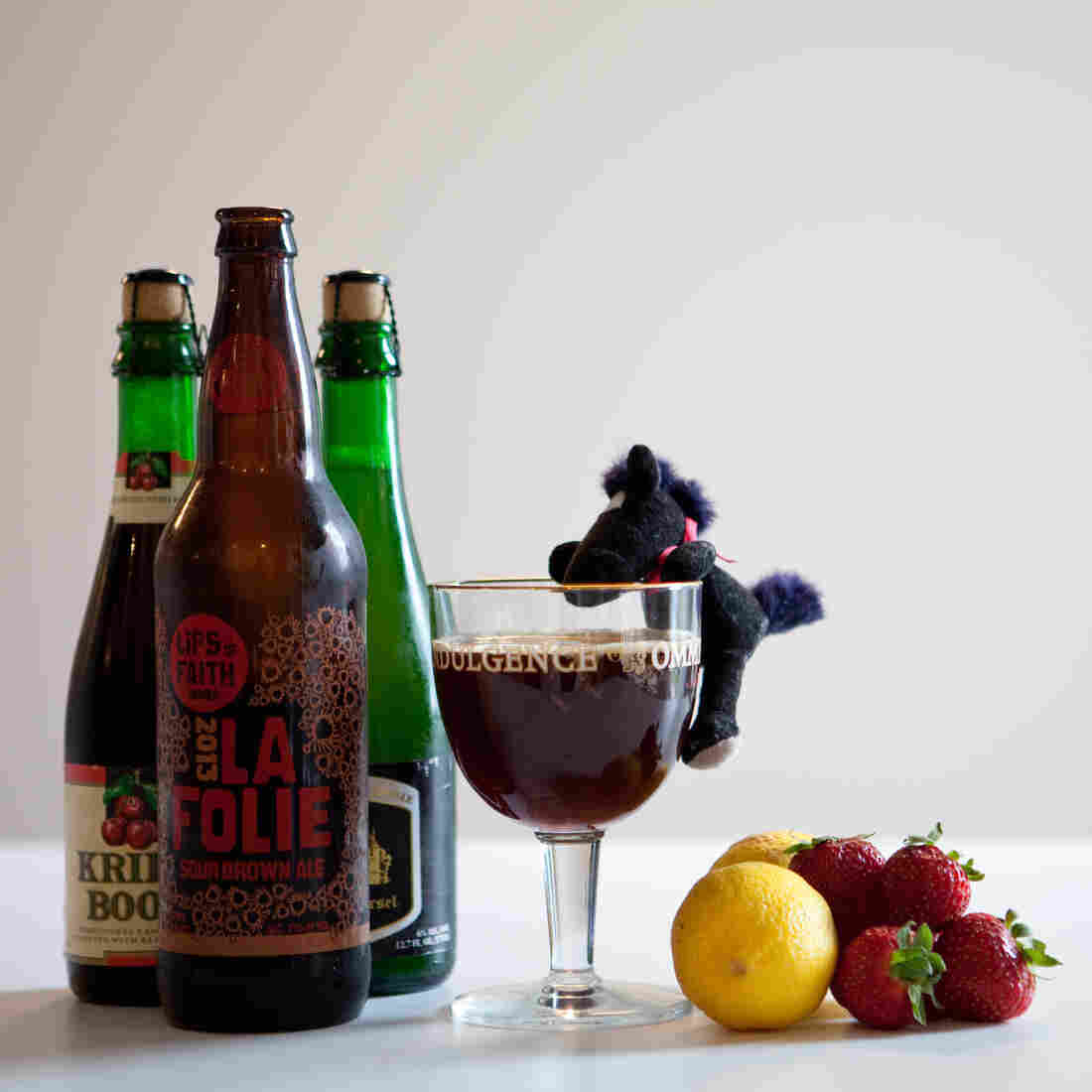 "Hold Your Horses: The main flavor of a sour beer is tartness, like a strawberry or lemon. But many sours also have a ""funky"" taste that some say smells like a horse blanket or a barnyard."