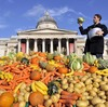 Tristram Stuart, founder of Feeding the 5000, is helping to organize several disco soup events across Europe for World Food Day.