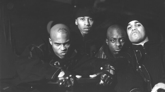Onyx in an undated photo. From left to right, Sticky Fingaz, Fredro Starr, Suave and Big DS.