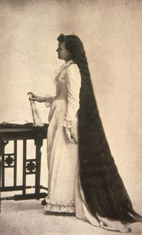 Martha Matilda Harper used this photo of herself to advertise her salons.
