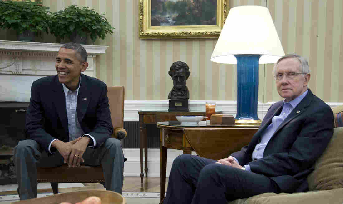 President Obama and Senate Majority Leader Harry Reid, D-Nev., shared the same goals but had notable stylistic differences in their approaches to the fiscal fight.