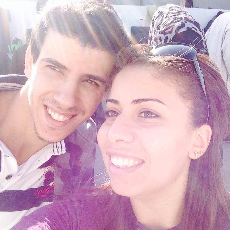 Fida'a Abuassi and her brother-in-law Monir Albhaisi.